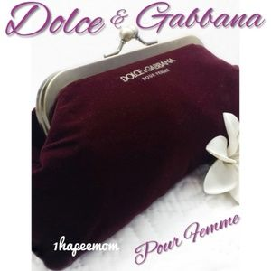 Dolce & Gabbana Velvet Clutch Mini Bag Authentic